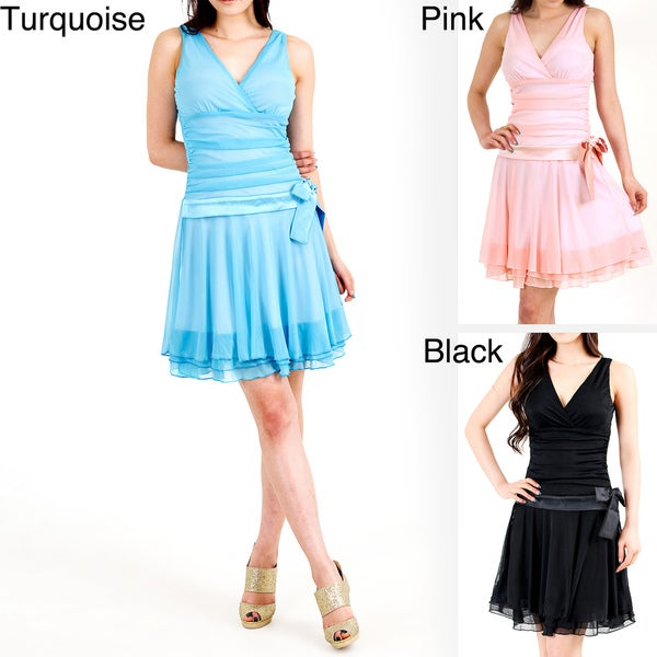 Evanese Women's Triple Layered Mini Dress