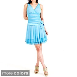 Evanese Women's Triple Layered Mini Dress