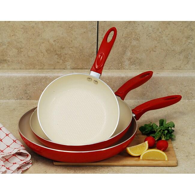Professional Aluminum 3-piece Ceramic Nonstick Cookware Set