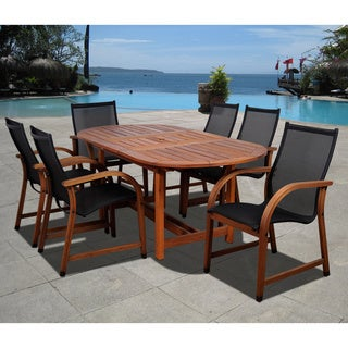 Clay Alder Home Barclay 7-piece Weather Resistant Oval Dining Set
