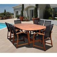 Havenside Home Tottenville 9-piece Eucalyptus Oval Dining Set
