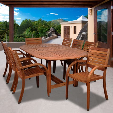 Tottenville 9-piece Oval Dining Set by Havenside Home