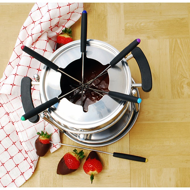 Stainless Steel 11-piece Fondue Set - Thumbnail 0