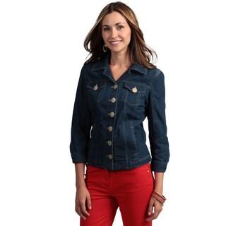 Live A Little Women's 3/4-sleeve Denim Jacket