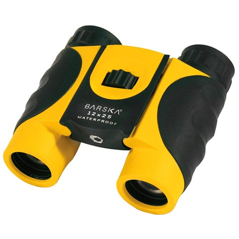 Yellow Waterproof Binoculars (12 x 25 )