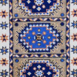 Thumbnail 2, Handmade Kazak Wool Rug (India) - 2' x 3'. Changes active main hero.