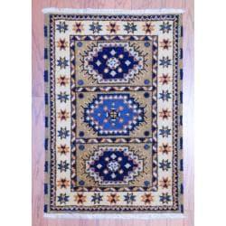 Herat Oriental Indo Hand-knotted Kazak Beige/ Gold Wool Rug (2' x 3')