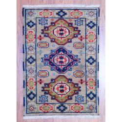 Herat Oriental Indo Hand-knotted Kazak Beige/ Rust Wool Accent Rug (2' x 3')