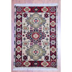 Herat Oriental Indo Hand-knotted Traditional Kazak Light Green Wool Rug (2' x 3')