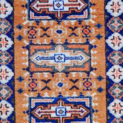Indo Hand-knotted Kazak Peach/ Copper Wool Rug (2' x 3')