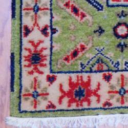 Thumbnail 3, Handmade Kazak Wool Rug (India) - 2' x 3'. Changes active main hero.