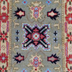 Thumbnail 2, Handmade Kazak Wool Rug (India) - 2' x 3'. Changes active main hero.