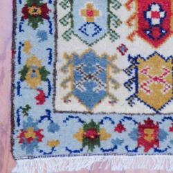 Thumbnail 3, Handmade Kazak Wool Rug (India) - 2' x 3'. Changes active main hero.