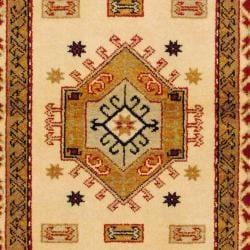 Herat Oriental Indo Hand-knotted Kazak Wool Rug (3' x 5') - Thumbnail 1
