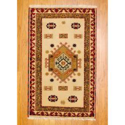 Herat Oriental Indo Hand-knotted Kazak Wool Rug (3' x 5')
