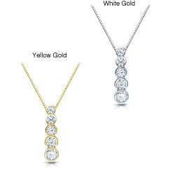 Auriya 14k Gold 1/2ct TDW Diamond Necklace (H-I, I1-I2)