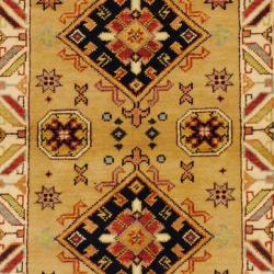 Indo Hand-knotted Kazak Beige/ Ivory Wool Rug (3' x 5')