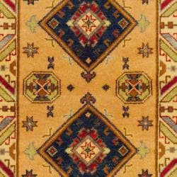 Indo Hand-knotted Kazak Peach/ Beige Wool Rug (3' x 5') - Thumbnail 1