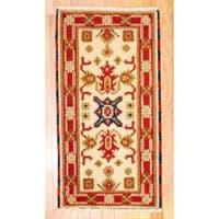 Herat Oriental Indo Hand-knotted Kazak Wool Rug - 2' x 4'