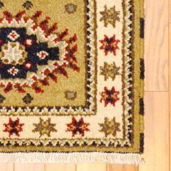 Herat Oriental Indo Hand-knotted Kazak Wool Rug (2' x 4') - Thumbnail 1