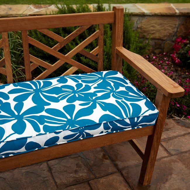 Penelope Blue 60-inch Outdoor Bench Cushion