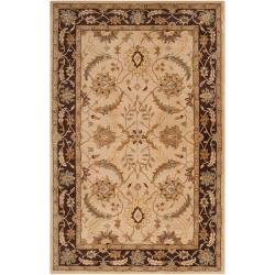 Hand-tufted Beige Clifford New Zealand Wool Area Rug - 5' x 8' - Thumbnail 0