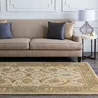 Hand-tufted Beige Clifford New Zealand Wool Area Rug - 5' x 8'