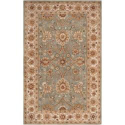 Hand-tufted Green Clifford New Zealand Wool Area Rug - 5' x 8' - Thumbnail 0