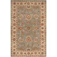 Hand-tufted Green Clifford New Zealand Wool Area Rug (5' x 8')
