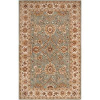 Hand-tufted Green Clifford New Zealand Wool Area Rug - 5' x 8'
