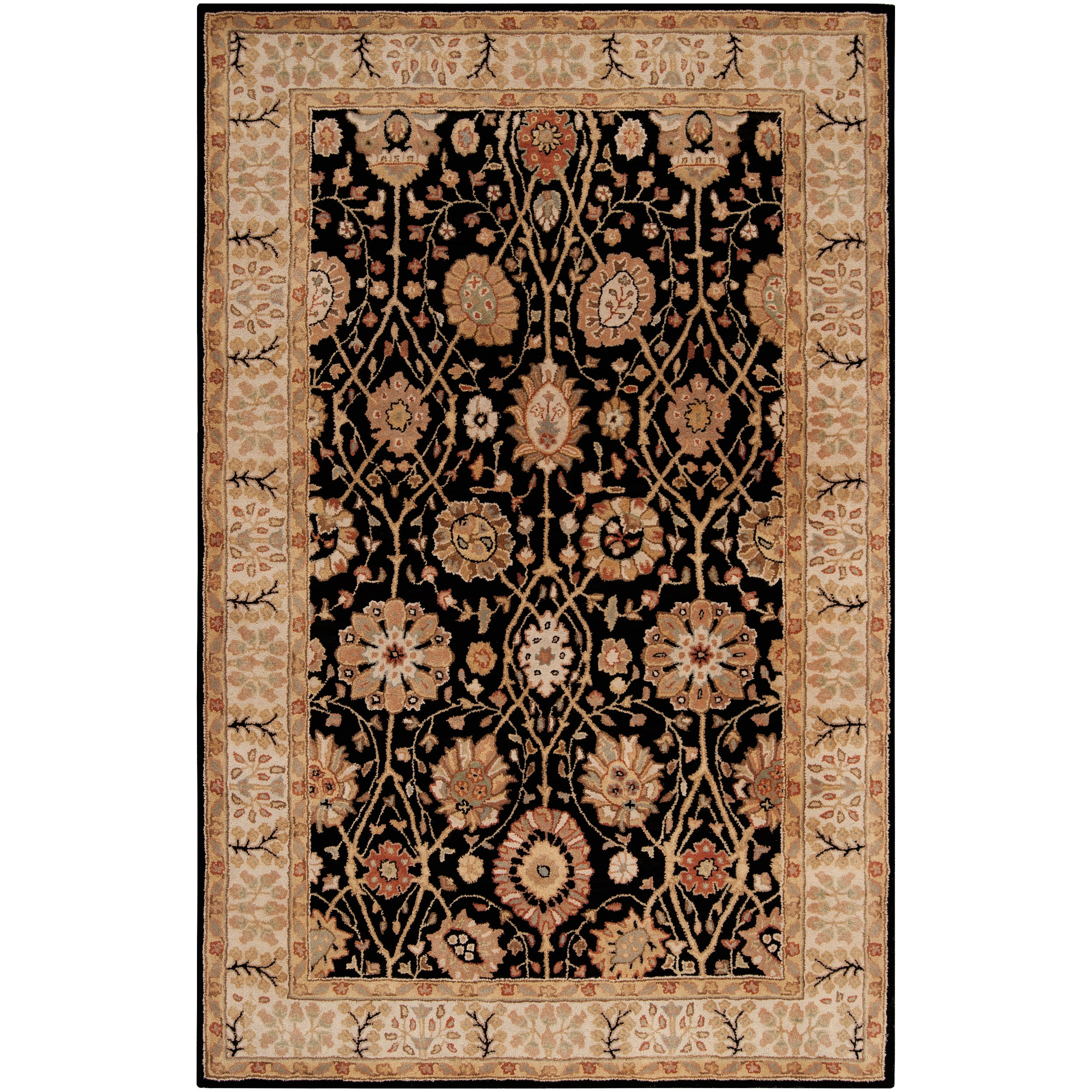 Hand-tufted Black Clifford New Zealand Wool Rug (3'3 x 5'3)