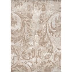 Meticulously Woven Beige Vintage Crumpo Abstract Rug (3'11 x 5'7)