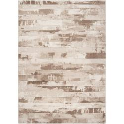 Meticulously Woven Tan Crumpo Abstract Rug (3'11 x 5'7)