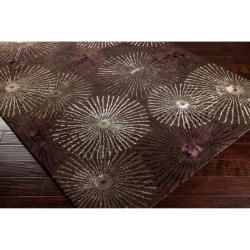 Hand-tufted Brown Essential New Zealand Wool/ Viscose Rug (5' x 8') - Thumbnail 1