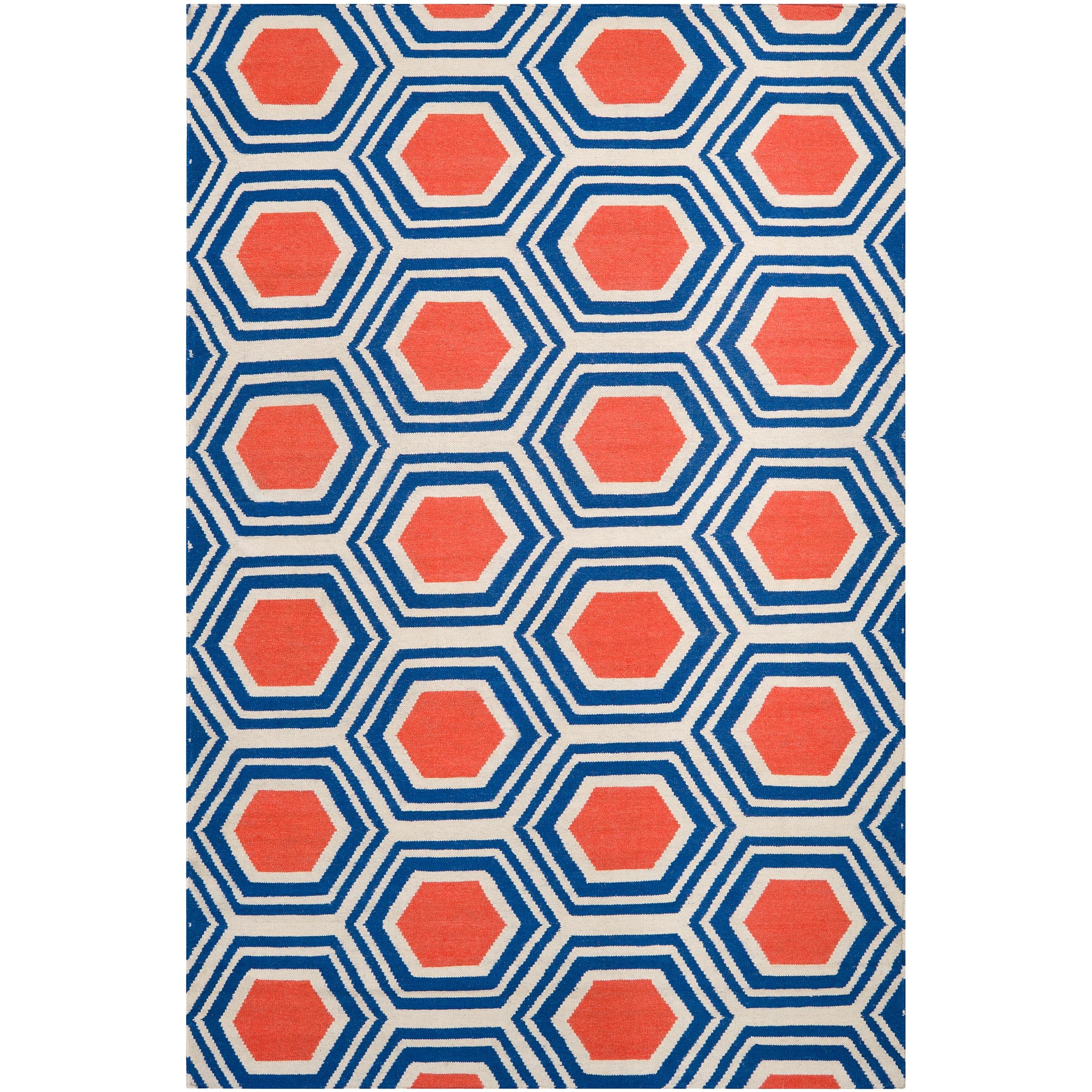 Hand-woven White Faithful Wool Rug (3'6 x 5'6)