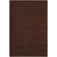 Hand-woven Brown Farron New Zealand Wool Soft Braided Texture Area Rug (5' x 8')