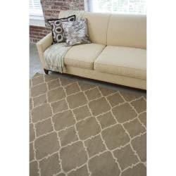 Hand-woven Brown Foptop Wool Rug (3'6 x 5'6)