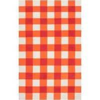 Hand-woven Orange High Kite Wool Area Rug - 5' x 8'
