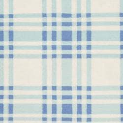 Hand-Woven Blue Transitional High Kite Wool Rug (5' x 8')