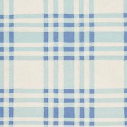 Hand-woven Blue High Kite Wool Rug (8' x 11') - Thumbnail 2