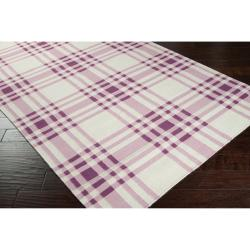 Hand-woven Purple High Kite Wool Rug (3'6 x 5'6) - Thumbnail 1