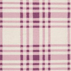 Hand-woven Purple High Kite Wool Rug (3'6 x 5'6) - Thumbnail 2
