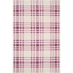 Hand-woven Purple High Kite Wool Rug (3'6 x 5'6)