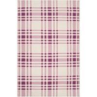 Hand-woven Purple High Kite Wool Area Rug - 3'6 X 5'6