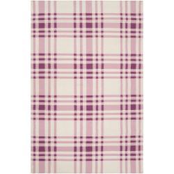 Handwoven Purple High Kite Wool Area Rug (8' x 11')