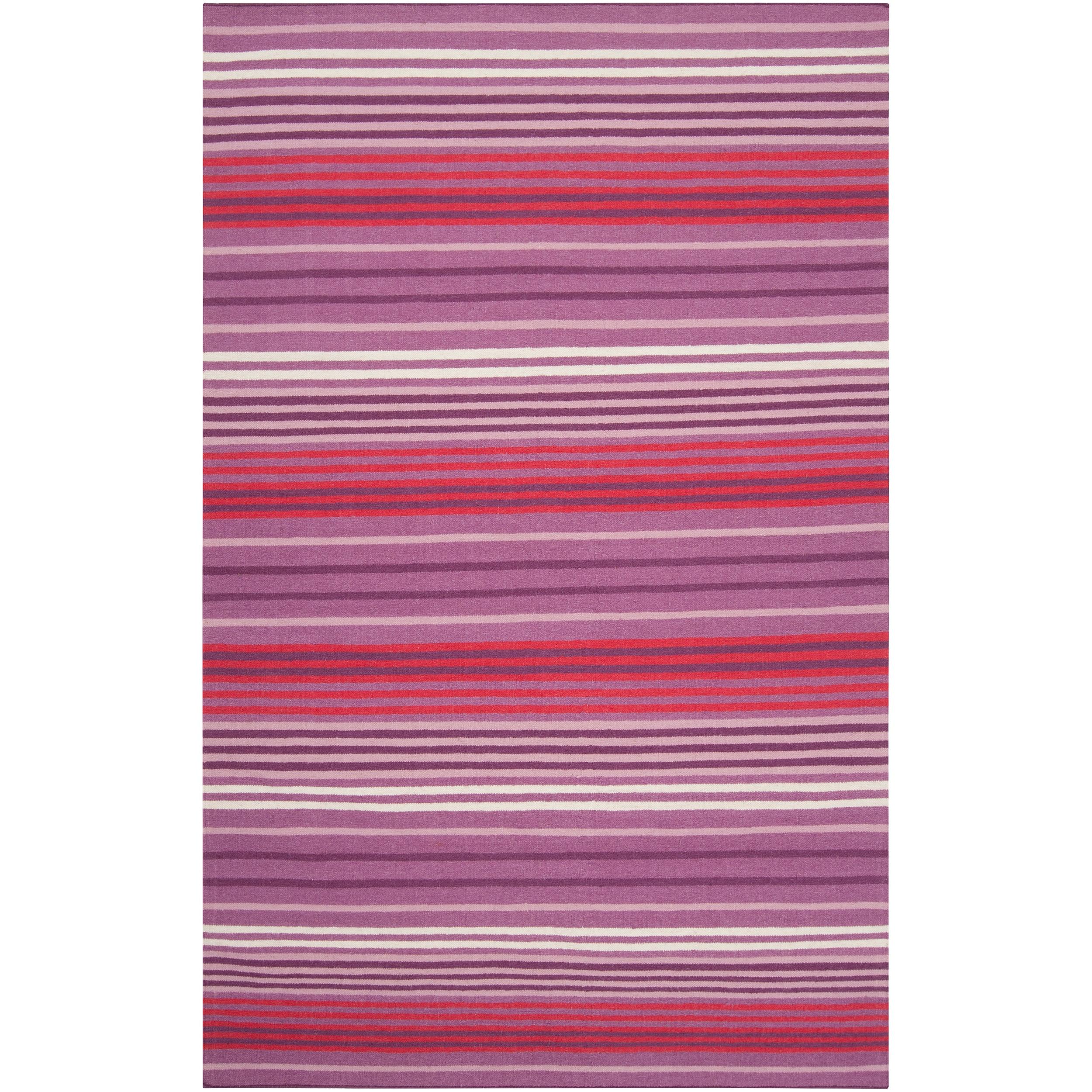 Country Living Hand-woven Purple High Kite Wool Rug (8' x 11')