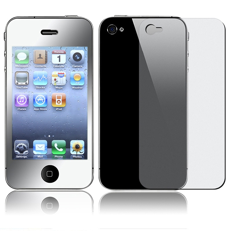 INSTEN Mirror Screen Protector for Apple iPhone 4/ 4S (2-LCD Kit)