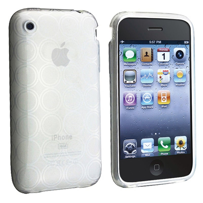 BasAcc Clear Circle TPU Rubber Case for Apple iPhone 3G/ 3GS