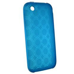 BasAcc Clear Blue Circle TPU Rubber Skin Case for Apple iPhone 3G/ 3GS - Thumbnail 1