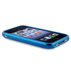 BasAcc Clear Blue Circle TPU Rubber Skin Case for Apple iPhone 3G/ 3GS - Thumbnail 2
